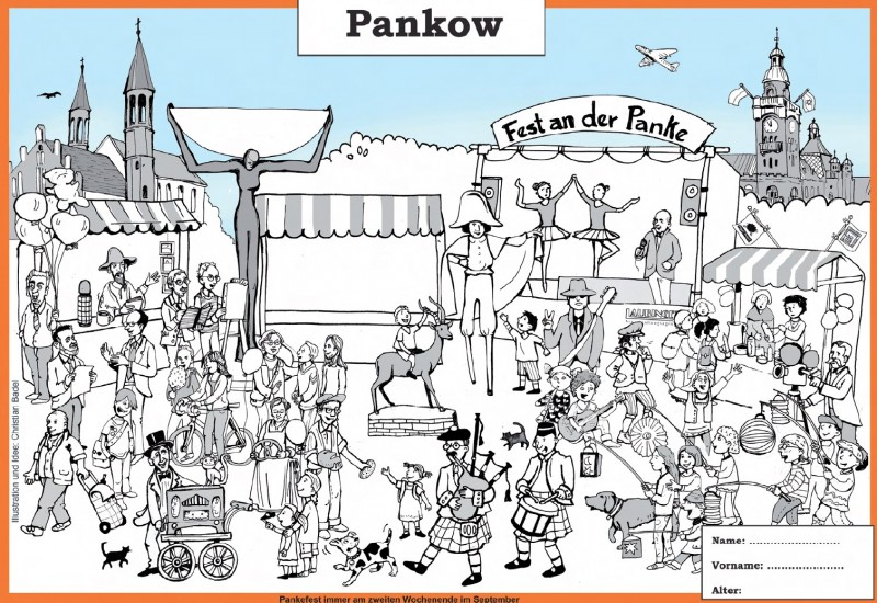 Ausmalbild Fest an der Panke
