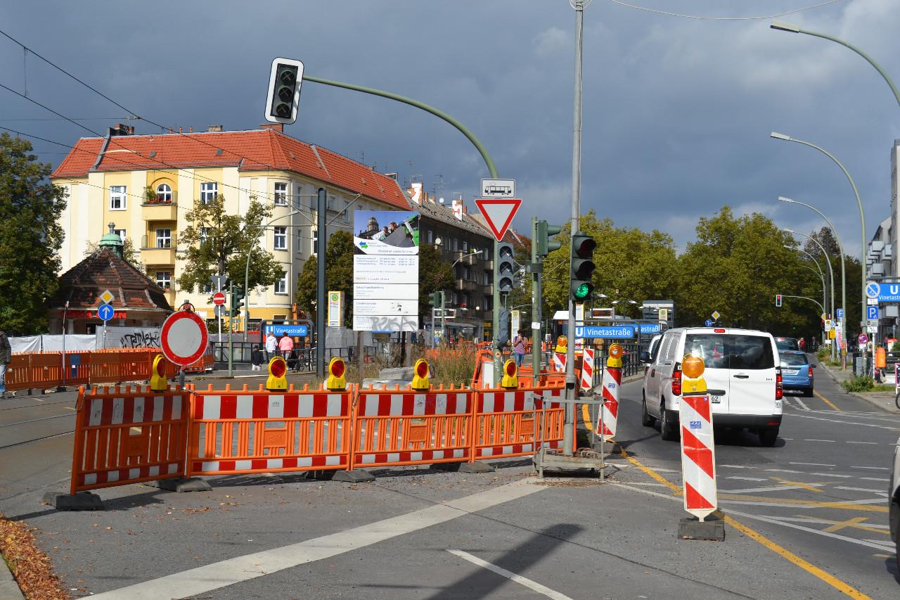 Die Durchfahrt zur Mühlenstraße ist gesperrt