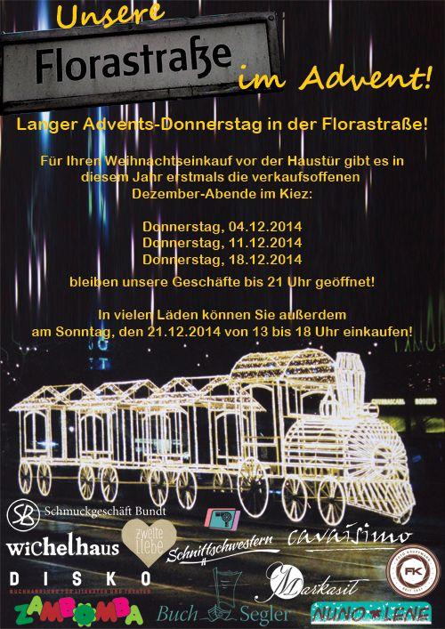 Plakat-Adventsöffnung