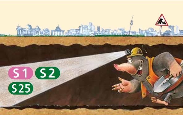 Der Maulwurf gräbt sich durch den Nord-Süd-Tunnel