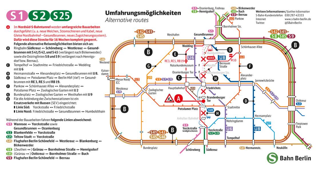 Alles auf einen Blick: Ausschnitt aus dem Faltblatt der Deutschen Bahn