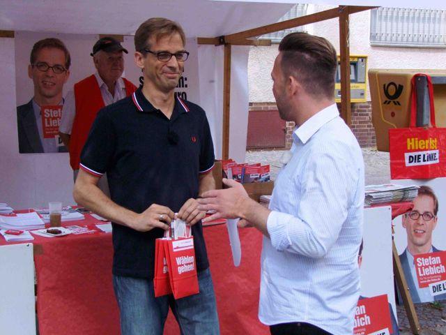 Stefan Liebig im Wahlkampf