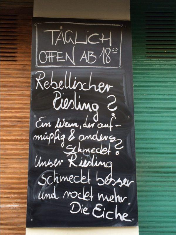 """Tafel an der """"Eiche"""" in der Wollankstraße"""