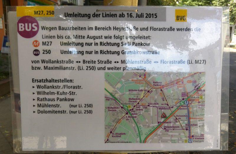 Bus Umleitung